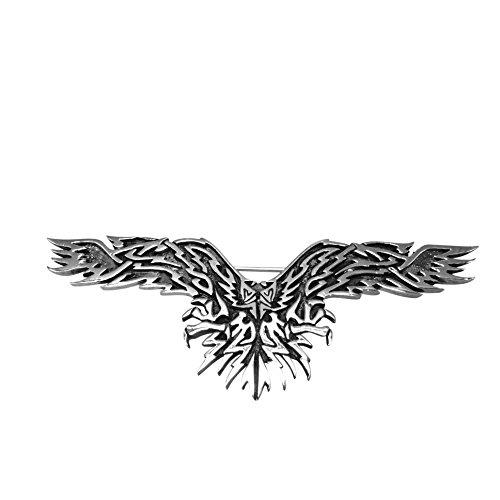 Sterling Silver Tribal Eagle in Flight Pin
