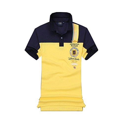 メンズ ポロシャツ 半袖 Tシャツカジュアル 紳士ポーツゴルフ刺繍無地 シャツ ゆったり リラックス 着やすい すぐ着れる らく 気持ち良い