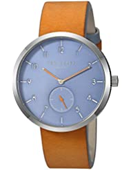 Ted Baker Mens JOSH Quartz Stainless Steel and Leather Casual Watch, Color:Brown (Model: TE50011004)