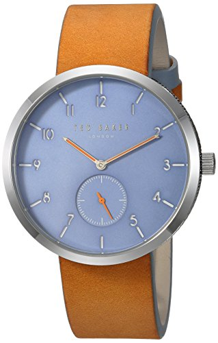 Ted Baker Men's 'JOSH' Quartz Stainless Steel and Leather Casual Watch, Color:Brown (Model: - Mens Ted Baker Watches