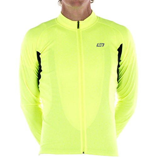 Bellwether Sol Air UPF 40+ Men's Long Sleeve Cycling Jersey: Hi-Vis MD