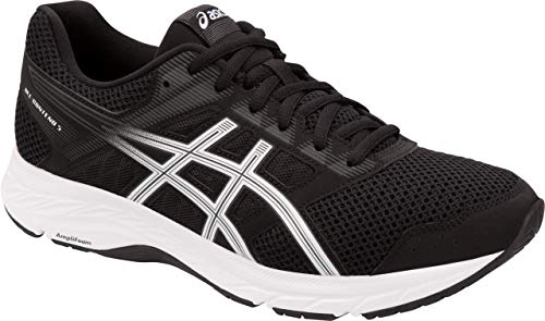 - ASICS Gel-Contend 5 Men's Running Shoe, Black/White, 10.5 EEEE US