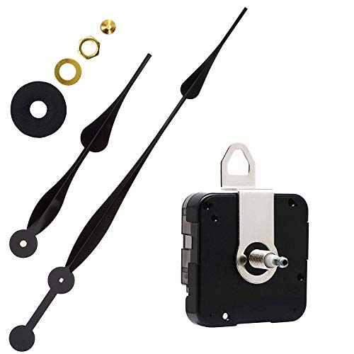 (Youngtown 12888 High Torque Long Shaft Clock Movement Mechanism with 12 Inch Long Spade Hands)