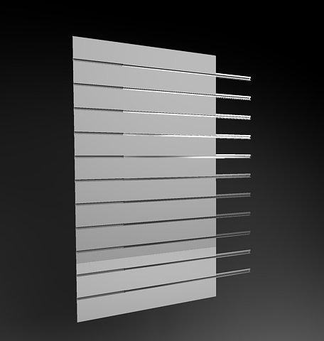 Pannello dogato Cabina armadio guardaroba arredamento negozi BIANCO 60 cm