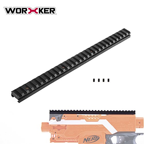 Worker Mod 27.9CM Picatinny Top Rail Mount for NERF ELITE STRYFE BLASTER by WORKER