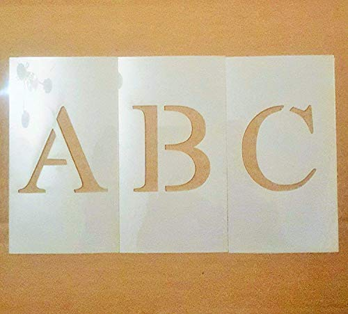 Uppercase Times New Roman Alphabet Stencil