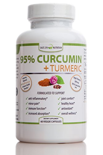 Curcumin Plus, 1500mg – with BioPerine Black Pepper Extract Advance Absorption – Made in USA – 60 Veggie Capsules, Radiant Skin, Arthritic Pain Relief, Joint Comfort, Inflammation Relief, Wellness