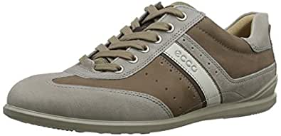 ECCO Men's Chander Retro Oxford, Stone, 44 EU/10-10.5 M US