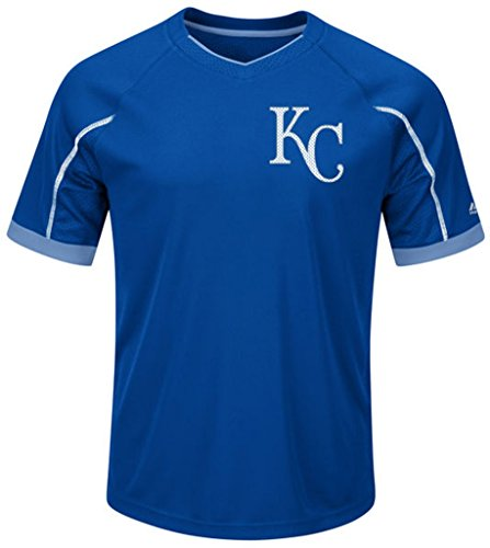 Kansas City Royals MLB Mens Majestic Cool Base Emergence Shirt Royal Blue Big & Tall Sizes (3XL)