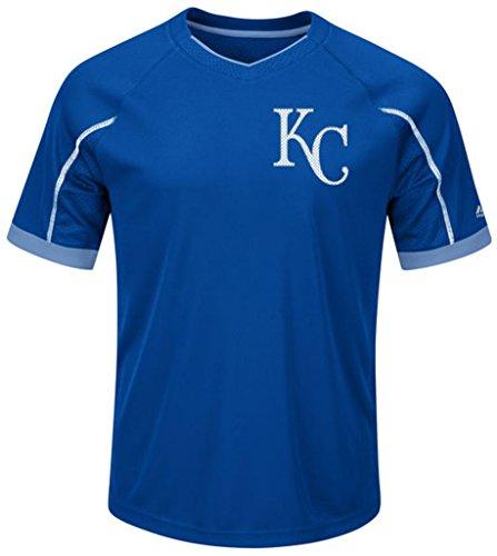 Kansas City Royals MLB Mens Majestic Cool Base Emergence Shirt Royal Blue Big & Tall Sizes - Royals Kansas Cool City