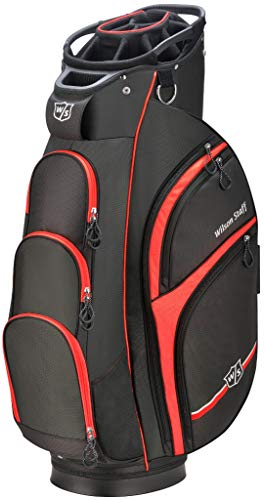 Wilson Staff Xtra Cart Bag, Black/Red ()