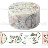 Aimez le Style Rose Room Design 28mm width Washi Paper Masking Tape