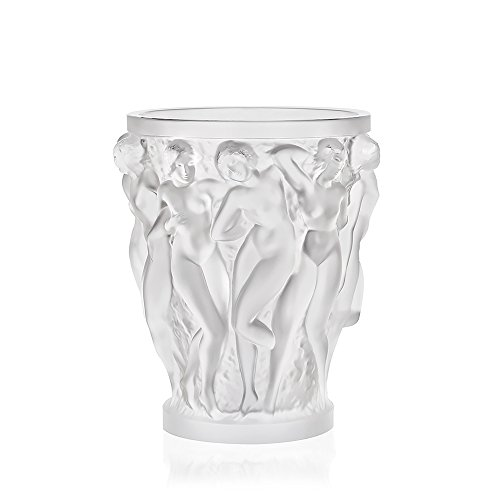 Lalique Crystal Clear Bacchantes Vase Small (Lalique Clear Crystal)