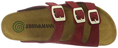 Dr. Brinkmann 700861 - Mules Mujer Rojo - Rot (Wein/Camel)