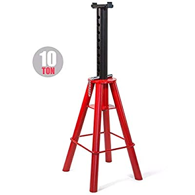 """9TRADING 1pc HEAVY DUTY JACK TRUCK SEMI STANDS HIGH LIFT 10 TON PIN 28 TO 47"""" LIFT NEW"""