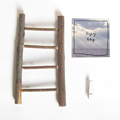 2017 Calendar with handmade Ladder stand, cute mini desk calendar, Handwritten quote on Sky and Cloud photography in sunny and cloudy day (Luxury Box Ladder)