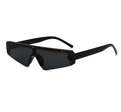SIMINGSHUAI Pequeñas Gafas De Sol Cuadradas Marco Negro ...
