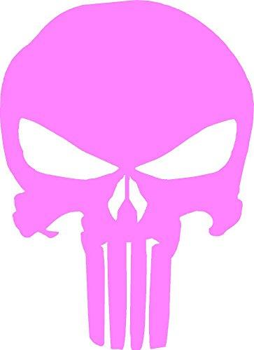 Punisher Vinyl Decal Sticker Windows (pink, 3 x 2 ()