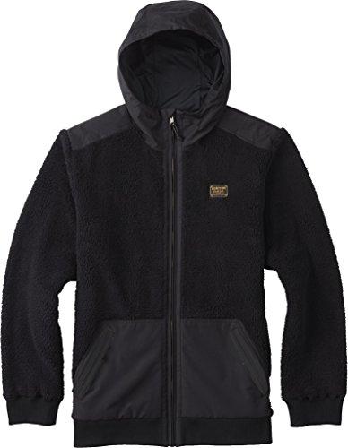 Burton Men's Tribute Full-Zip Fleece Hoodie, True Black, XX-Large (Zip Pocket Button)
