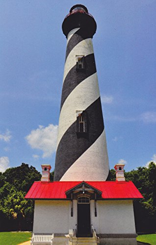 (LIGHTHOUSES10 - ST. AUGUSTINE LIGHT, ST. AUGUSTINE, FLORIDA - - Another Beautiful LIGHTHOUSE POSTCARD from HibiscusExpress)
