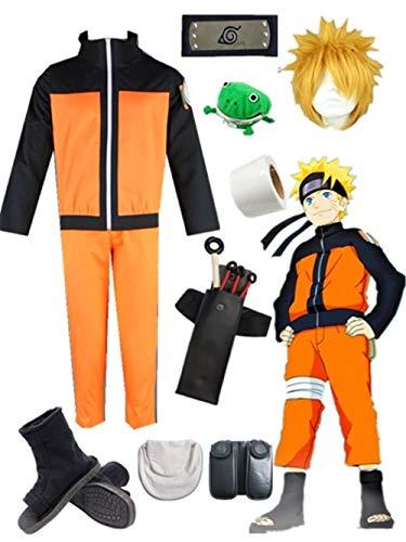 YOUYI Naruto Uzumaki Anime Halloween Cosplay Costume (3XS) Orange ()