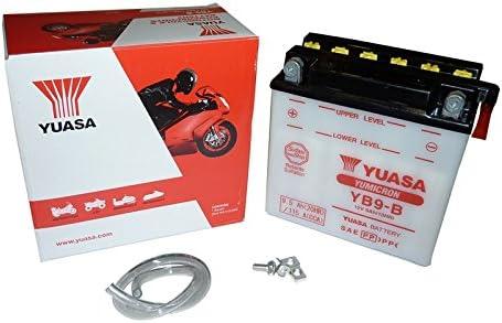 12V//9AH f/ür Piaggio // Vespa Hexagon 125 Baujahr 1997 Batterie YUASA YB9-B Ma/ße: 138x77x141