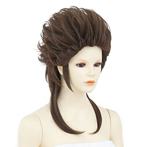 Neo Swept Back Hair Milk Chocolate Brown(A008) Cosplay Wig Short Combed Back Wig Heat-resistant