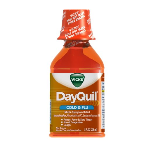 Vicks DayQuil Liquid Cold & Flu Multi-Symptom Relief, 8 Fl Oz, 2 ()