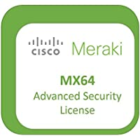 Meraki MX64 Advanced Security License and Support, 1 Year, Electronic Delivery