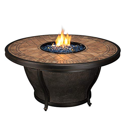 Agio Balmoral Gas Fire Pit with Copper Reflective Fire -
