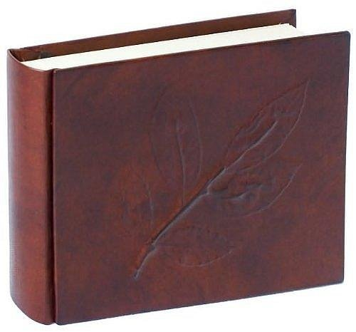 Eccolo Made in Italy Brown Leather Alloro Album Scrapbook, 8 x 6-Inch With 30 Ivory Pages by Eccolo