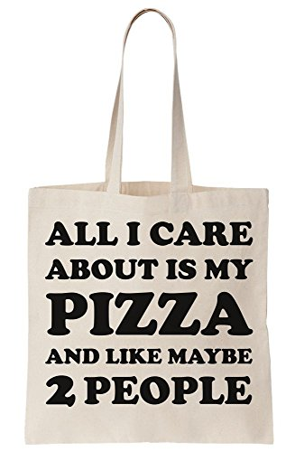 I Canvas About People 2 Pizza My Maybe Care Tote Is Bag Like And All SxPdaS