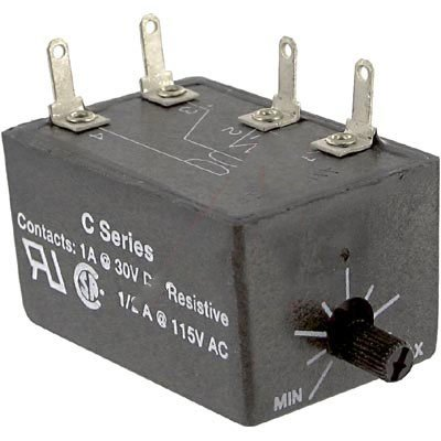 AMPERITE 12DNO.1-60C TIME DELAY RELAY, SPST-NO, 60S; CONTACT VOLTAGE VDC:-; TIME MIN:0.1S; TIME MAX:60S; PRODUCT RANGE:C SERIES; CONTACT CONFIGURATION:SPST-NO; CONTACT CURRENT:1A; RELAY MOUNTING:PANEL