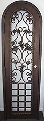 Wrought Iron Wine Cellar Gate (Swing Out Left)