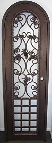 Wrought Iron Wine Cellar Gate (Swing Out - Iron Wine Cellar Door Shopping Results