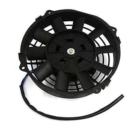 Amazon.com: eDealMax 12V 80W curvo lama Push Pull auto elettrica radiatore ventola di raffreddamento w Mount Kit: Electronics