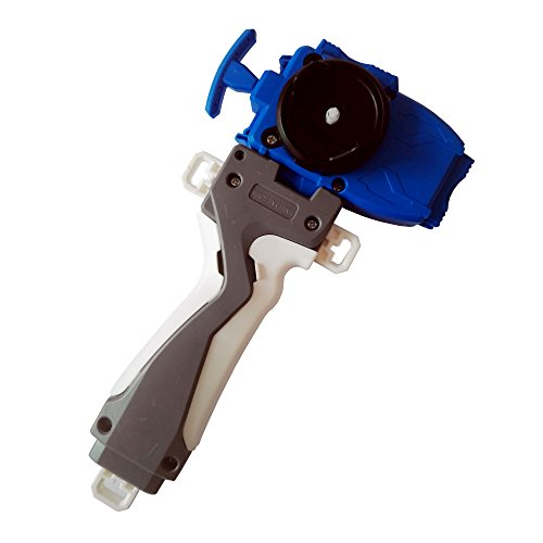 PPKred Rapidity Gyroscope Spinning Tops Burst B-11 Blue String Launcher/ Beylauncher w/ Grip Set