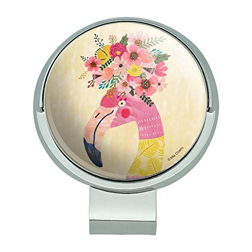 GRAPHICS & MORE Pretty Pink Flamingo Flowers Golf Hat Clip with Magnetic Ball Marker
