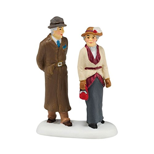 Department 56 Downton Abbey Village Lady Crawley and Gentleman Friend Accessory Figurine, 2.64