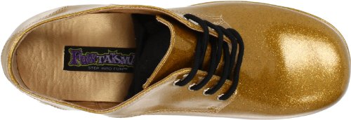 Funtasma Door Pleaser Mens Jazz-02 Platform Oxford Gold Glitter