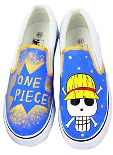 2018 Summer Cartoon Anime Women Shoes Hand Painted Canvas Shoes Fashion Rihanna Creepers Doodle Board Shoes EU Size 35-44 Y 11