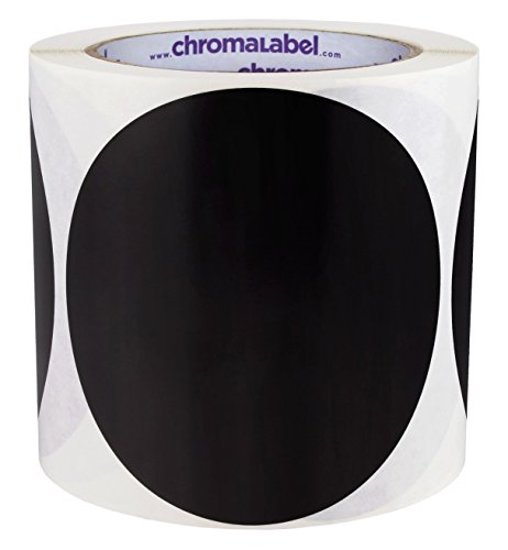ChromaLabel 4 inch Color-Code Dot Labels   250/Roll (Black)