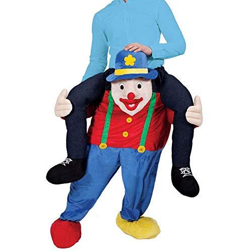 - CHECKIN Halloween Christmas Ride Me Costume Riding Shoulder Easter Mascot Pants Animal Fancy Dress Adult Costume Unisex (Clown)