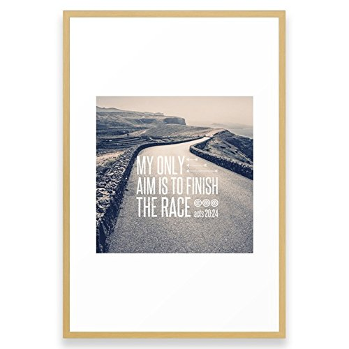 Society6 Aim To Finish The Race - Acts 20:24 Framed Print Conservation Natural LARGE (Gallery)