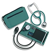 Mabis MatchMates Combination Kit With 3M Littman Classic II S.E. Stethoscope, Hunter Green