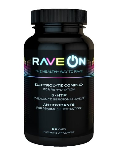 Rave ON: Rave Recovery (90 caps)- 5-HTP, Antioxidants, and Electrolytes