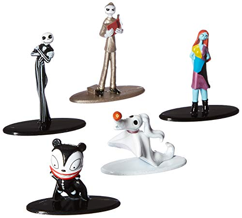 Nano Metalfigs 30042 Disney Tim Burton's The Nightmare Before Christmas Metals Die-Cast Collectible Toy Figures 5 Pack, 1.65