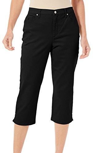 Gloria Vanderbilt Capri Pants (Gloria Vanderbilt Womens Amanda Capris 14 Black)