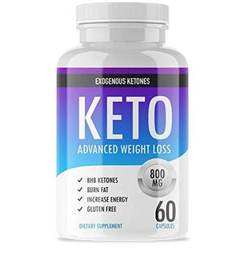 Exogenous Ketones Advanced Keto Pills Supplement for A Pure Keto Weight Loss Diet - Helps Burn Fat - Boost Energy and Metabolism - BHB Ketones to Burn Fat Instead of Carbs Fast in Ketosis - 60 Capsule