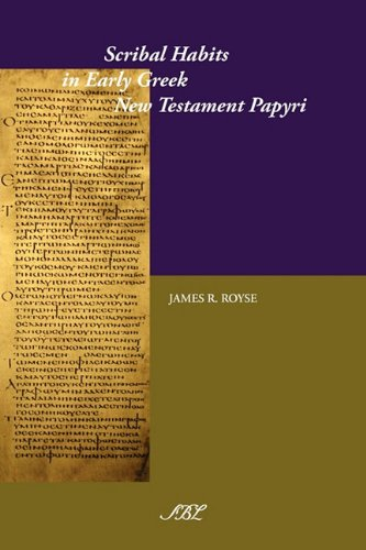 Scribal Habits Testament Studies Documents product image